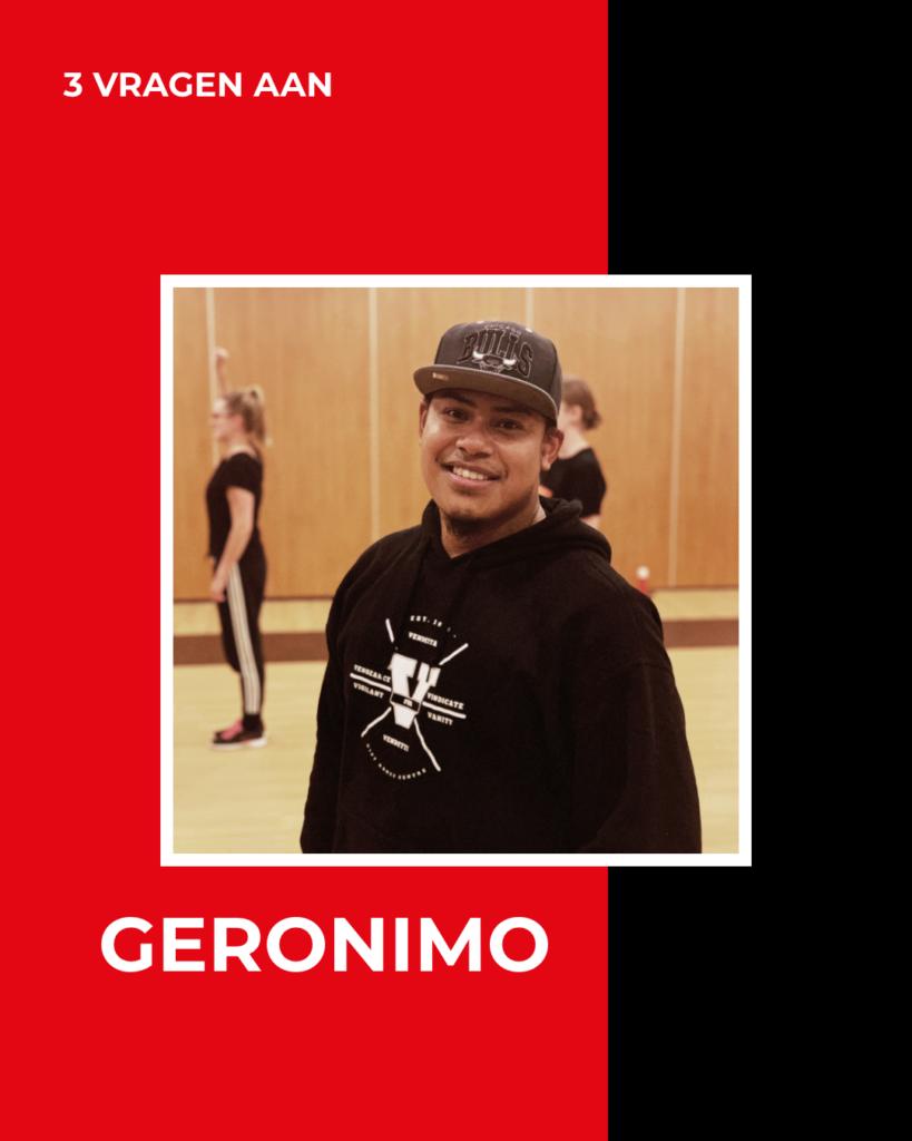 3 VRAGEN AAN – Geronimo